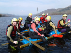 Stag Do Raft Building in the Lake District