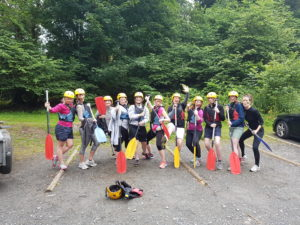 The Hen's are ready for Raft Building!