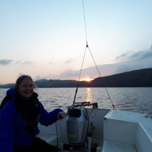 Winter sun while sailing