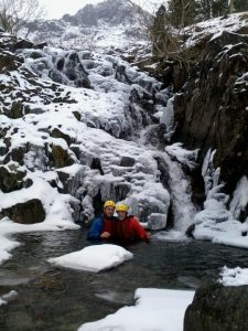 Winter Gorge Walking in the Lake District