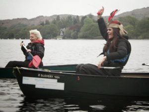Hen Party Canoeing in the Lake District