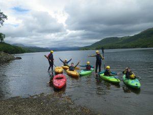 Group Kayaking in the Lake District
