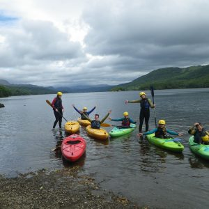 Group Kayaking in the Lake District