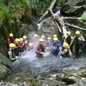 Group Gorge Walking in the Lake District