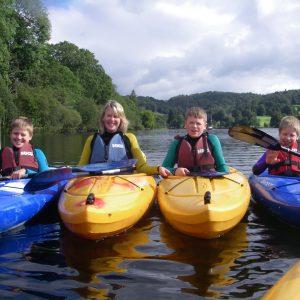 Family Kayaking in the Lake District