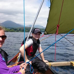 Lake District Canoe-sailing