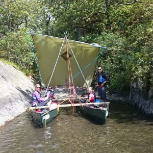 Canoeing and canoe-sailing in the Lake District