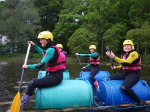 Raft Building for groups in the Lake District