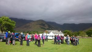 Charity walking event in the Lake District