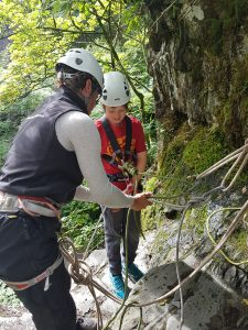 Family Abseiling in the Lake District