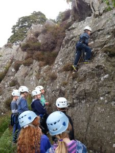 Rock Climbing birthday party in the Lake District