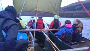Canoeing birthday party in the Lake District