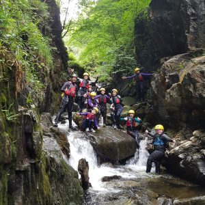 Gorge Walking birthday party in the Lake District