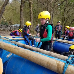 Raft Building birthday party in the Lake District