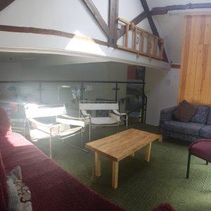 Lowick School Bunkhouse mezzanine lounge area