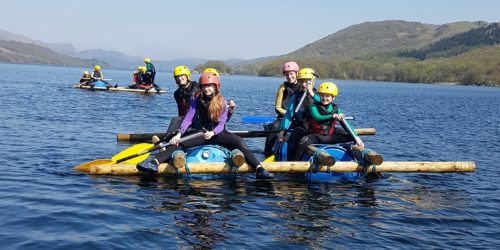 Raft Building in the Lake District